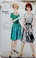 VOGUE 5274 1950's-1960's COCKTAIL PARTY DRESS SEWING PATTERN SIZE 12 Bust 32