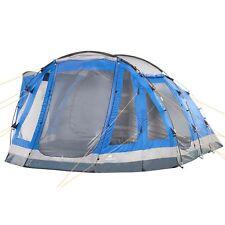 CampFeuer Campingzelt Familienzelt 5 Personen Zelt 3000 Mm Tunnelzelt blau grau
