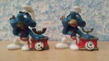 20062 Schleich telefonschlumpf horquilla Dick izquierda Smurf los pitufos de colección 3