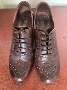 Pikolinos OLMO Brown Leather Brogue-style Shoes UK5 / EUR38