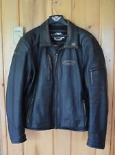 Harley-Davidson Mens Cross Roads Distressed Leather Motorcycle Jacket XL X-Large