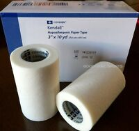 """Covidien Kendall Paper Tape - 3"""" x 10 yds - 4 Rolls/Box - Hypoallergenic"""