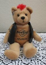 "Hard Rock Cafe Atlanta Bear Red Hair Black Vest 9"""