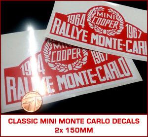Classic Rover Mini Cooper Monte Carlo Rally Decals Paddy Hopkirk S