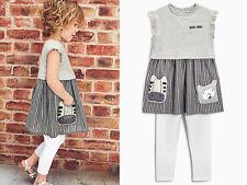 NEXT 2TLG Tunika Kleid mit Leggings Zebra für Mädchen 6-9 Monate 74cm 16c