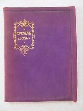 CAVALIER LYRICS (c. 1900) - 17th century poetry, incl. Herrick, Carew, Suckling