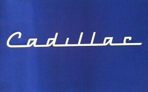 Cadillac Script Sign GM Oldsmobile 1940's 1950's 1960's Art Deco