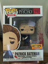 American Psycho- Patrick Bateman (#943) Hot Topic Exclusive Funko Pop +protector