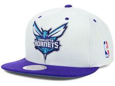 Mitchell & Ness Charlotte Hornets STA3 XL Logo White Snapback Hat Cap NBA
