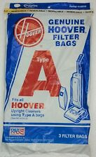 Hoover Vacuum Bags Type A 3 Pack Genuine For Upright Cleaners USA
