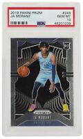 Ja Morant 2019 Panini #249 Memphis Grizzlies Prizm Basketball Card PSA GEM MT 10