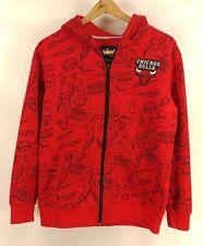 NBA Chicago Bulls Boys Red Zip Up Hooded Jacket - XLarge