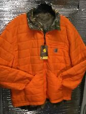 Carhartt 101740-820 Woodsville Reversible Jacket Orange/Camo XLG TALL