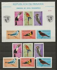 Panama 1965 Wildlife Fauna Birds Vögel Oiseaux imperforated compl. set + MS MNH