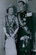 1937 Princess Juliana & Prince Bernhard at Ball Press Photo