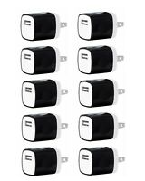 Lot USB Wall Charger Power Adapter AC Home US Plug iPhone Samsung LG kindle BLK
