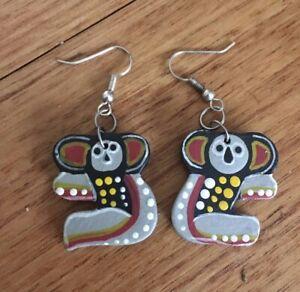 Hand Painted Australian Koala Earrings