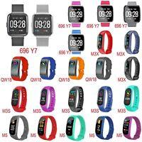 Sports Blood Pressure/Oxygen Heart Rate Fitness Smart Watch Band Wrist Bracelet
