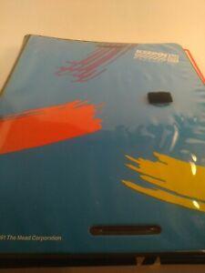 🔥NOS Vintage 1991 Mead Trapper Keeper Designer Series + 2 Folders & Tablet🔥