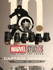 Hot Toys Captain America Concept Art MMS488 Hands x 7 & Pegs loose 1/6th scale