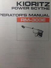 Echo Kioritz Rm 303e Gasoline Brushcutter Power Scythe Owner Amp Parts Manual