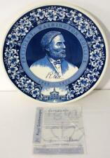 Royal Goedewaagen Blue Delft Holland Robert E. Lee Plate Washington College-New