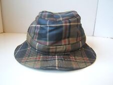 Plaid Fedora Hat Small Hats of Ireland Hand Tailored Cap