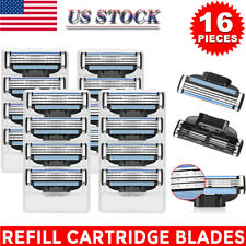 New 16Pcs 4Pack Razor Blades for Gillette MACH 3 Shaving Trimmer Cartridges US