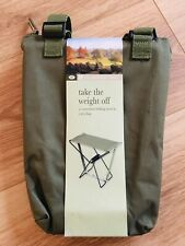 National Trust Folding Stool In Carry bag, Ideal For Camping, Fishing, Walking