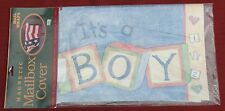 It'S A Boy Birth Announcement Magnetic Mailbox Wrap Cover Blue New