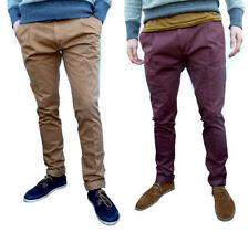 Pantalones de hombre chinos color principal marrón 100% algodón
