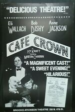 """Cafe Crown Theater Broadway Window Card Poster 14"""" x 22"""""""