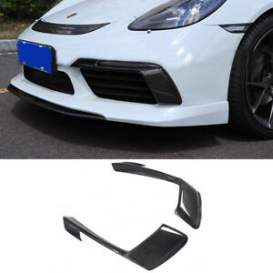 SIDE AIR VENTS  carbon fiber Front for Porsche 718 Boxster Cayman 2016-up