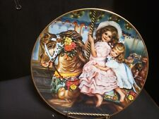 Vtg Collector Plate Sandra Kuck Carousel Magic Barefoot Children Horse 4th Editi