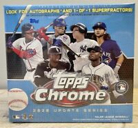 2020 Topps Baseball Chrome Update Series Blue Factory Sealed Mega Card Box