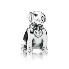 Genuine PANDORA Sterling Silver Labrador Dog Charm 791379CZ Discontinued