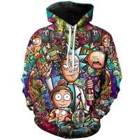 Rick and Morty 3D Hoodie Sweatshirt Cosplay Pullover Causal Unisex Coat Jacket