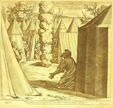 Moïse avec l'Eternel Exode XXXIII La Bible Nicolas Chaperon 1649 ap Raphaël