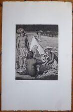 Jean Julien Gravure originale signée expressionnisme scène oriantaliste