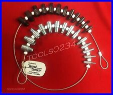 Thread Checker SWTC-26 Combo Metric & SAE Bolt & Nut Gauges 6-32 - 1/2 & M4 -M12