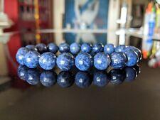 211.45 Cts.100% Natural Sapphire bead bracelet for Men Stretch 10mm, Sri Lanka