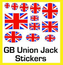Union Jack Étiquettes Autocollants Cercles Rectangles Ovales - 12 Tailles - 4