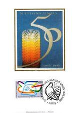 2975+CARTE MAXIMUM FRANCE 1er JOUR  SUR SOIE  ORGANISATION DES NATIONS UNIS