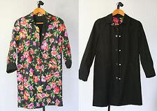 Jones NY Signature Jacket Reversible Floral & Black Womens Small Trench Coat