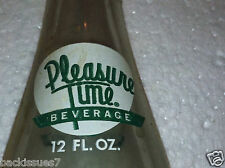 Pleasure Time Soda Pop Beverage 12oz Bottle: Tucson, Ariz. Green & White Classic