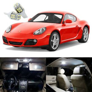 13 x Xenon White LED Interior Light Package Kit For Porsche Cayman 2006 - 2012