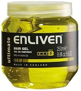 Enliven Ultimate Yellow Hair Gel 250 ml Pack of 1 FREE DELIVERY