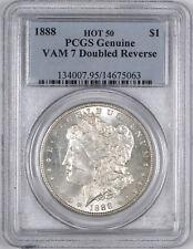 1888 Morgan Silver Dollar ( HOT LIPS VAM-7 Doubled Reverse ) $1 - PCGS Genuine -