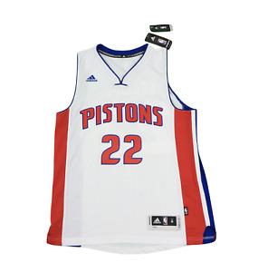 New Adidas Medium NBA Detroit Pistons Avery Bradley Autographed Swingman Jersey
