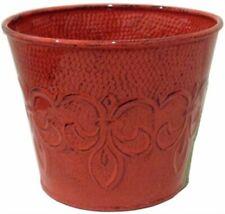 "Fleur 6"" Red Planter,No Mpt01889, Rush Creek Designs Inc"
